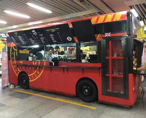 深圳连城新天地玻璃钢巴士售卖车车模会展中心地铁摆放图