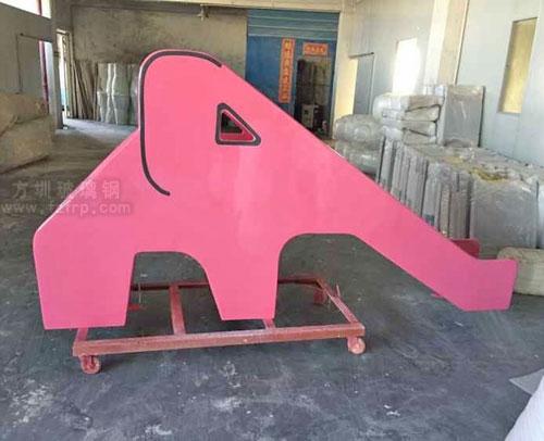 大象玻璃钢滑梯