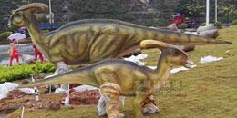 市政打造仿真恐龙家族景观雕塑工程